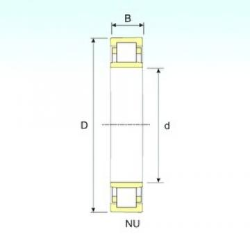 45 mm x 100 mm x 36 mm  ISB NU 2309 cylindrical roller bearings