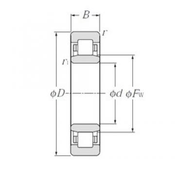 25 mm x 62 mm x 24 mm  CYSD NU2305E cylindrical roller bearings