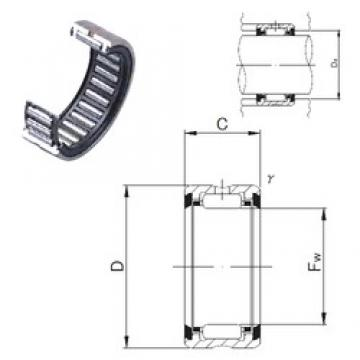 JNS RNA 6904UU needle roller bearings