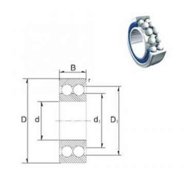 30 mm x 62 mm x 23,8 mm  ZEN S5206-2RS angular contact ball bearings